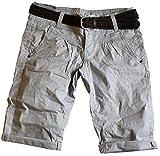 30 Farben Damen Jeans Bermuda Short by Eight2Nine Boyfriend Look tiefer Schritt Jeansbermuda mit...