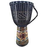 60cm Profi Djembe Trommel Bongo Drum Buschtrommel Percussion Motiv Buntes Muster Afrika Art - (Sehr...