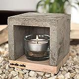 ECI Candle Cube© Kleiner Teelicht Tisch-Kamin Ofen Stövchen Kerzen-Heizung Teelichtofen...