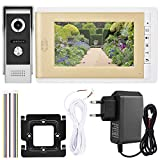 Zouminy Video-Türklingel, 7-Zoll-HD-Türklingel-Kamera-Video-Gegensprechanlage(EU)