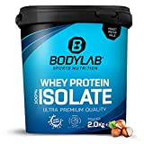 Whey Protein Isolate 2kg Haselnuss Bodylab24, Eiweißpulver aus Whey Isolat, Whey Protein-Pulver...