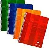 Clairefontaine MAXI 87244C Spiralgebundenes Notizbuch A5 im Quadrat 4 x 4 100 Seiten,farblich...