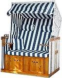 normani Strandkorb inklusive Abdeckhaube  Bequemer Sitz für Strände, Garten und Terassen bestehend...