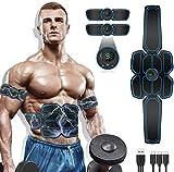 WARDBES Bauchmuskeltrainer,EMS Trainingsgerät,Bauchmuskeltrainer Elektrisch,Muskelstimulator,LCD...