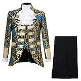 Cuteelf Sakkos Men's Anzugjacken Tuxedo Fashion for Party Handsome Oberteile Charm Casual One Button...