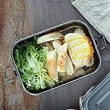 pologyase Edelstahl Brotdose & auslaufsichere Lunchbox 800ml, auslaufsichere Bento-Box, BPA-freie...