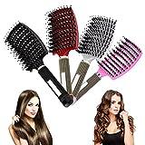 Mdwk Haarbürste, entwirrende Nylon-Borsten, für Frauen, Kopfhaut, Massagekamm