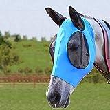 Bythavny Pferde Fliegenmaske, Fliegenmasken für Pferde mit Ohren, glatter und elastischer...