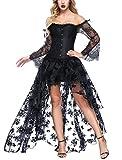 FeelinGirl Damen Korsagekleid Steampunk Gothic Kostm Magic Mistress Hexenkostm Teufelchen Halloween...