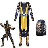 Scorpion Cosplay Kostümspiel Kinder Ninja Adult Outfit Cosplay Halloween Kostüm Karneval Kleidung...