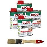 Clou 4 x 0,125ml Holzmöbel Lacklasur, Schützender Lack und farbige Lasur in einem, auf Basis von...