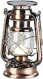 Lunartec Solar LED Lampe: Ultra helle Solar-LED-Sturmlampe, 200 Lm, 3 W, warmweiß, Bronze...