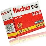 4er Set Fischer Dübel SX 6x30 mm Packung á 100 Stück - Nylon Spreizdübel mit 4-Fach-Spreizung...