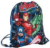 Marvel Avengers Jungen Rucksack mit Kordelzug Gr. One size, blau