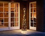LED Metall-Tannenbaum | mit warmweißen LED beleuchtet | Lichterbaum - Weihnachtsbaum für den Innen...