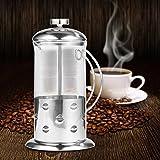 Kaffeemaschine Kaffee in Borosilikatglas mit Fruchtpresse Kaffeemaß, Edelstahl 304Stianless 600...