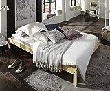 SAM Futonbett 140x200 cm Sina, Gästebett, Natur, Kiefernholz, massives Bett aus Kiefer