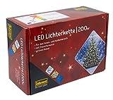 Idena 8325066 - LED Lichterkette mit 200 LED in warm wei, mit 8 Stunden Timer Funktion, Innen und...