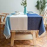 CanaZhuobu Baumwolle Leinen Tischdecke, Modisch, Nordischen Stil, Exquisite Fransen, Kann FüR...