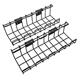 KD Essentials – Kabelkorb aus Metall, 2er-Pack – Kabelhalterung & Kabelkanal (Untertisch- oder...