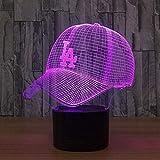 Baseball Cap 3D Lampe Indoor Bluetooth Lautsprecher USB Musik 3D Licht Farbe veränderbar Lampara...