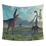 AIKAI Dinosaurier Tier Serie Tapisserie hängende Tischdecke Strandtuch Digitaldruck 100 * 70CM