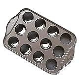 QYXJJ Ycake 2Pcs Muffinform, 12er Muffin Backform,Backfrmchen Antihafteigenschaft Muffinblech mit 12...