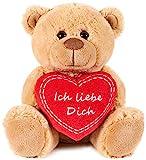 Brubaker Teddy Plschbr mit Herz Rot - Ich Liebe Dich - 25 cm - Teddybr Plschteddy Kuscheltier...