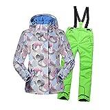 Kinder Skianzüge, Mädchen Im Freien wasserdichte Skijacke und Skihose, Reißverschluss Mantel...