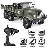 6WD Steuerung Fernauto 1/16 Scale RC Military Truck Wiederaufladbare Spielzeug Auto Modell Geschenk...