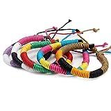 DonDon® Unisex-Armband Freundschaftsarmband Set 5 Stück bunt-Mehrfarbig