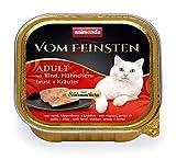 animonda Vom Feinsten Adult Katzenfutter, Nassfutter für ausgewachsene Katzen, Schlemmerkernmit...