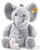 Steiff Ellie Elefant Spieluhr - 26 cm - Kuscheltier für Babys - Plüschelefant - weich - hellgrau -...