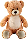 Lifestyle & More Riesen Teddybär Kuschelbär XXL 100 cm groß Plüschbär Kuscheltier samtig weich...