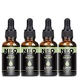 4 Pack Natürliches Öl Tropfen 90 Prozent-10ML, Höchste Qualität Öl, 100% Vegan, Tested and...