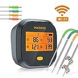 Inkbird IBBQ-4T WLAN Grillthermometer Wasserdichtes, WiFi Fleischthermometer mit 4...