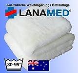 LANAMED S 50 x 80 cm – Australische Antidekubitus Bettauflage aus ultra-dichter Schurwolle mit...