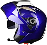 Bluetooth Motorrad Crash Modular Helme, Erwachsene Männer Frauen Rennsport Full Face Helme, mit...