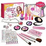 Kinderschminke Set, Luckyfine Mädchen Makeup Set, 20 Stücke Waschbar Schminkset Spielzeug...