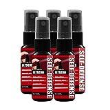 Hukz 5 Stück Pfefferspray Abwehrspray für Frauen, Werwolf Pfefferspray Verteidigungsspray KO-Spray...