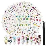 FunPa Nagelsticker | 72pcs Nail Sticker Nagelaufkleber Selbstklebende Maniküre Sticker Nagelkunst...