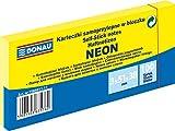 DONAU 7585011-11 Notes Würfel Haftnotizen Neon-Gelb Selbstklebende Haftnotizzettel Sticky Notes...