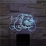 Nur 1 Stück Beleuchtung Schlafzimmer Dekoration Usb Vision 3D LED Mops Modellierung Tischlampe...