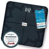 Medisana BS 450 connect, digitale Körperanalysewaage 180 kg, schwarze Personenwaage zur Messung von...
