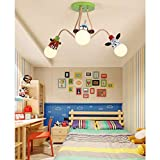 Kinderzimmerlampe Deckenlampe E27 Kinderlampe Pendelleuchte Retro Vintage Eisen Deckenleuchte Modern...