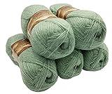 5 x 100 g Alize Glitzerwolle, Effektwolle einfarbig, 500 Gramm Metallic - Wolle mit 20% Woll-Anteil...