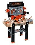 Smoby – Black+Decker Super Werkbank Center – mit viel Zubehör, mechanischem Akkuschrauber,...