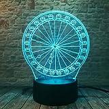 WangZJ 7 Farbwechsel Riesenrad 3D Visuelle Led Nachtlichter Kinder Geburtstag Neujahr Geschenke...