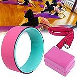 4pcs Yoga Rad Yoga Block Yoga Stretch Gürtel Riemen Rücken Stretching Fitness Set
