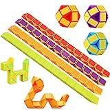 Lukiny 12 Packung 24 Blöcke Mini Schlange Würfel, Magische Geschwindigkeit Würfel, Mini Puzzle...